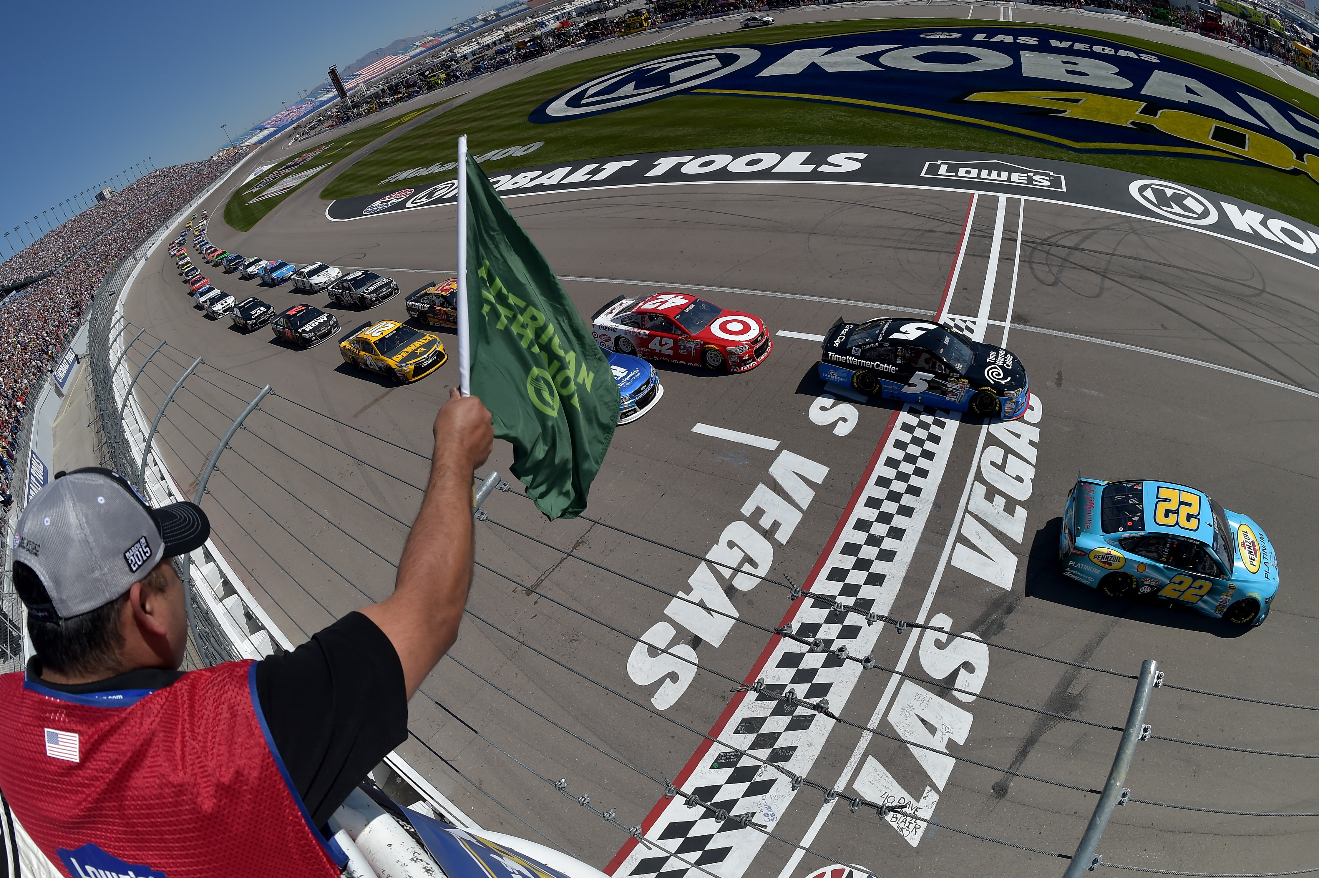 Reigning nascar sprint cup series champion kevin harvick for Motor speedway las vegas