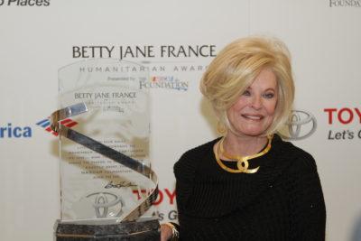 during the 2014 Betty Jane France Humanitarian Award Reception at Wing Lei in the Wynn Las Vegas on December 3, 2014 in Las Vegas, Nevada.
