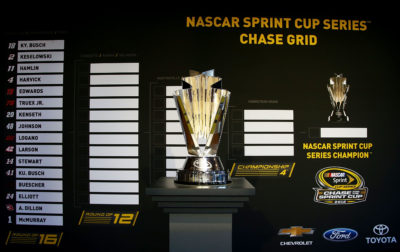 CHICAGO, IL - SEPTEMBER 15: The NASCAR Sprint Cup Series Champion trophy is seen during NASCAR's Ready. Set. Chase. Launch Event at The Bridgeport Art CenterÕs Skyline Loft on September 15, 2016 in Chicago, Illinois. (Photo by Sarah Crabill/NASCAR via Getty Images)
