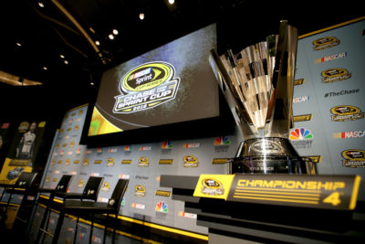 MIAMI BEACH, FL - NOVEMBER 17: The NASCAR Sprint Cup trophy sits on display during media day for the NASCAR Sprint Cup Series Championship at the Loews Hotel on November 17, 2016 in Miami Beach, Florida. (Photo by Sean Gardner/NASCAR via Getty Images)