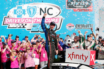Chase briscoe won the nascar xfinity series race at the for Charlotte motor speedway drag racing